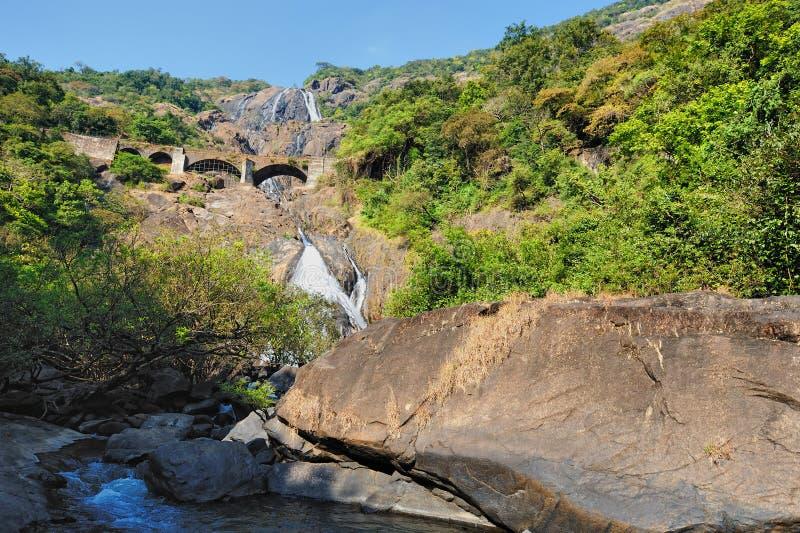водопад Индии стоковая фотография