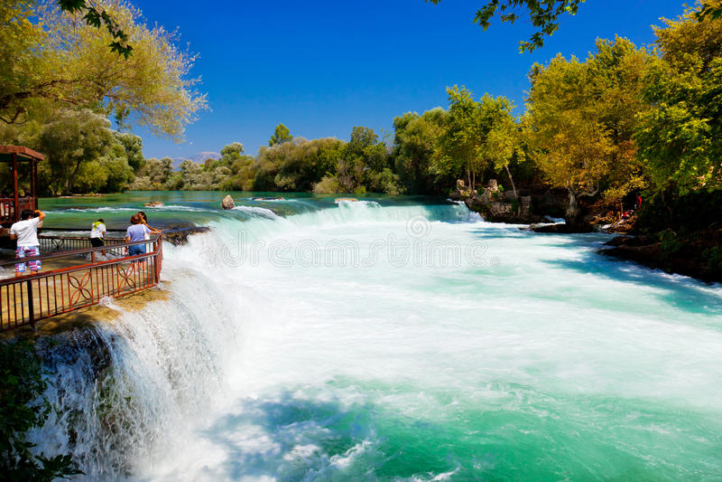 водопад индюка manavgat стоковые фото