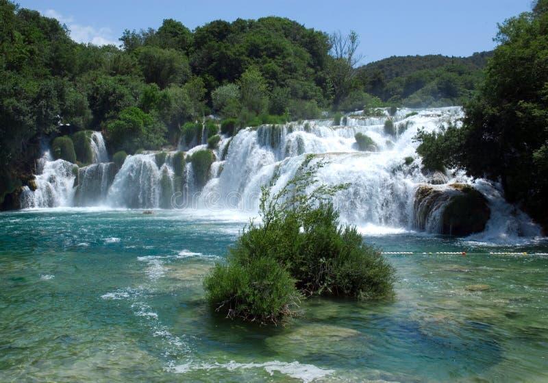 водопад национального парка krka стоковые изображения