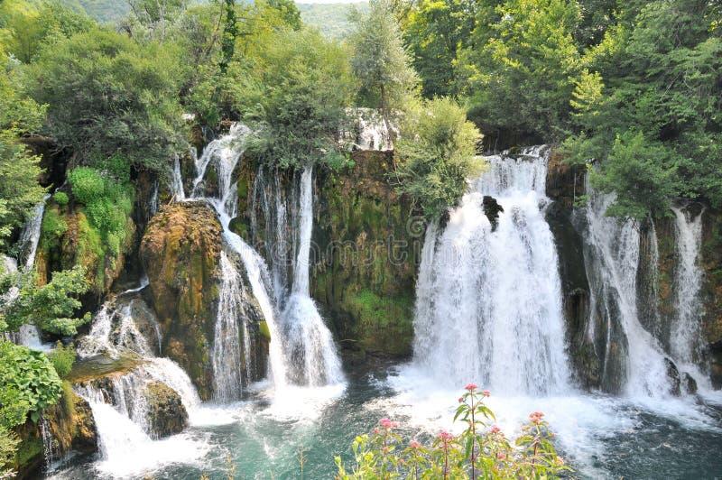 Водопад рая на реке Una стоковые фотографии rf
