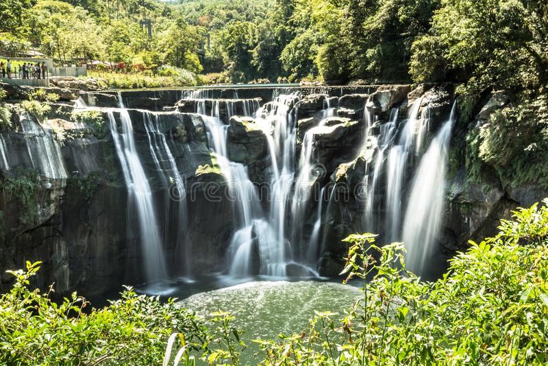Водопад Тайбэя Shifan стоковые изображения rf
