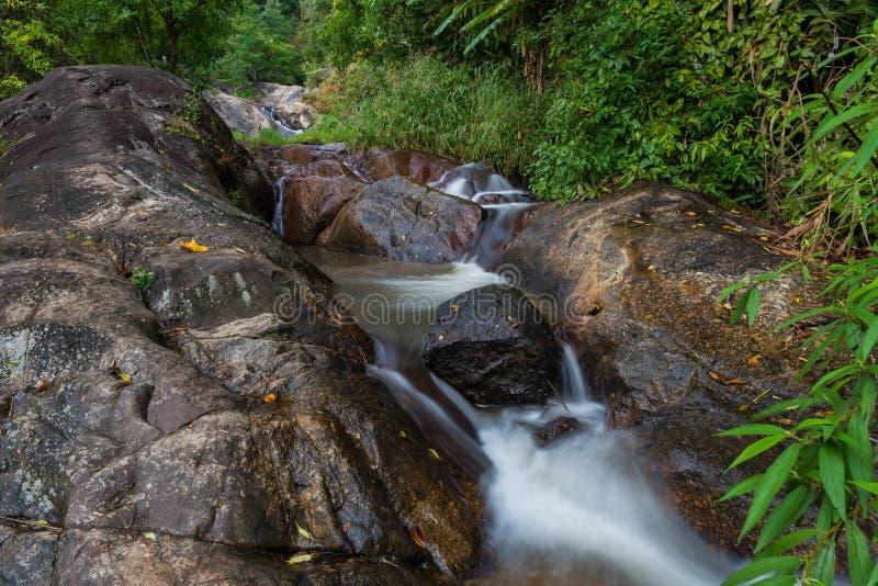 Водопад угрызения Mor в Mae Hong Sorn стоковое изображение rf