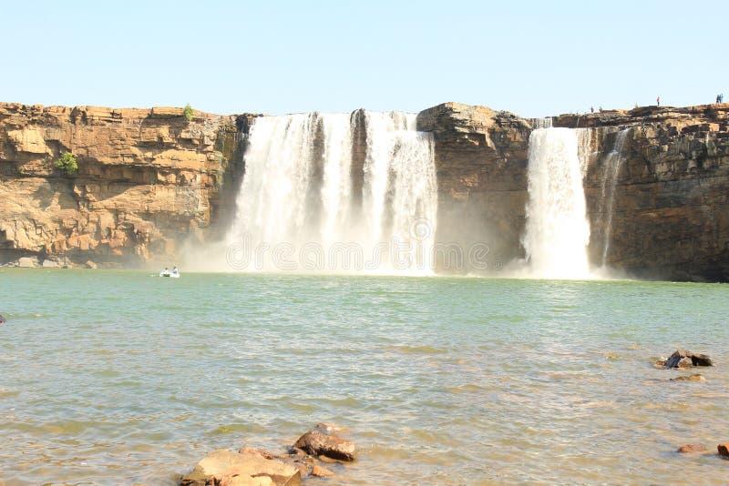 Водопад Chitrakot стоковые изображения rf