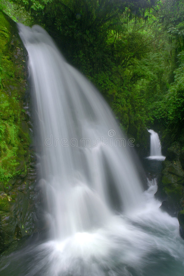 водопад Costa Rica стоковое изображение