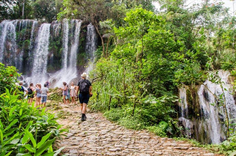 Водопад El Nicho, Куба стоковые фотографии rf