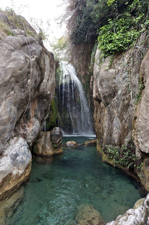 Водопад Fuentes de Algar в Испании стоковые изображения