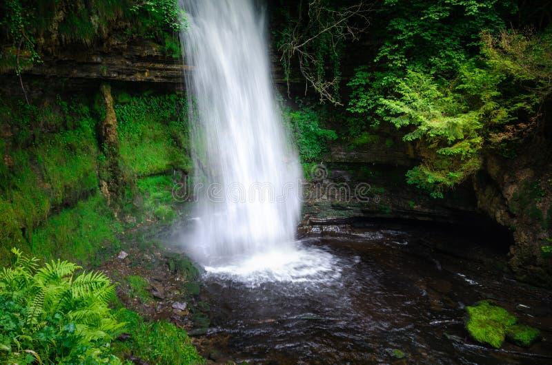 Водопад Glencar, графство Leitrim, Ирландия стоковые фотографии rf