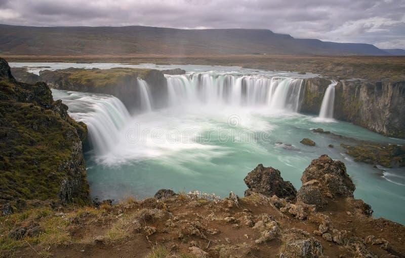 Водопад Goðafoss, Исландия стоковое изображение rf