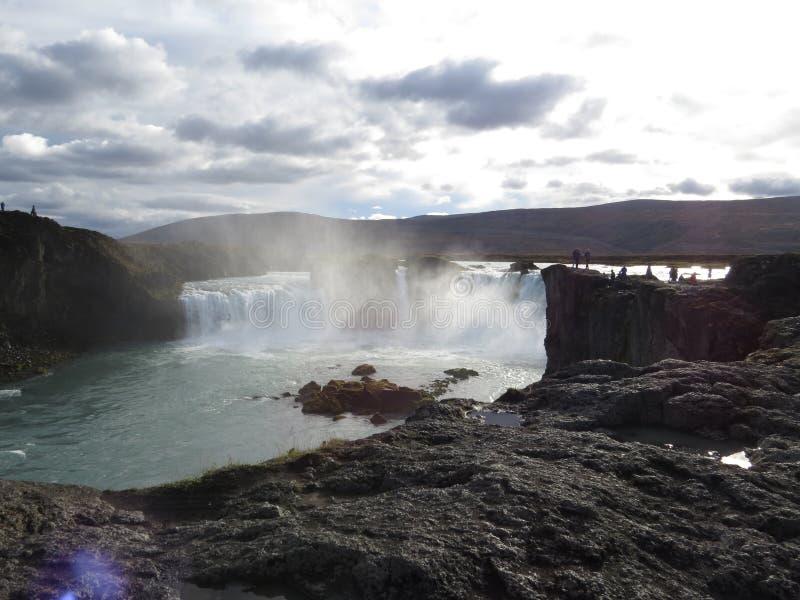 Водопад Goðafoss стоковые изображения