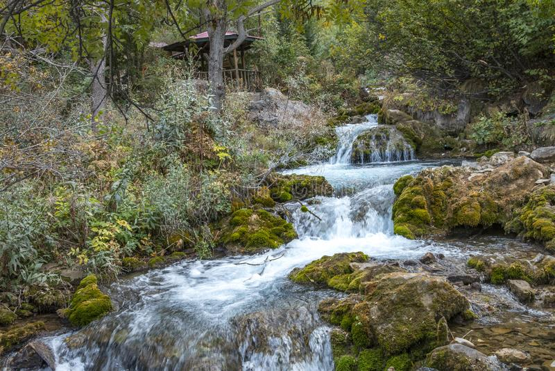 Водопад Gumushane Tomara стоковое изображение rf
