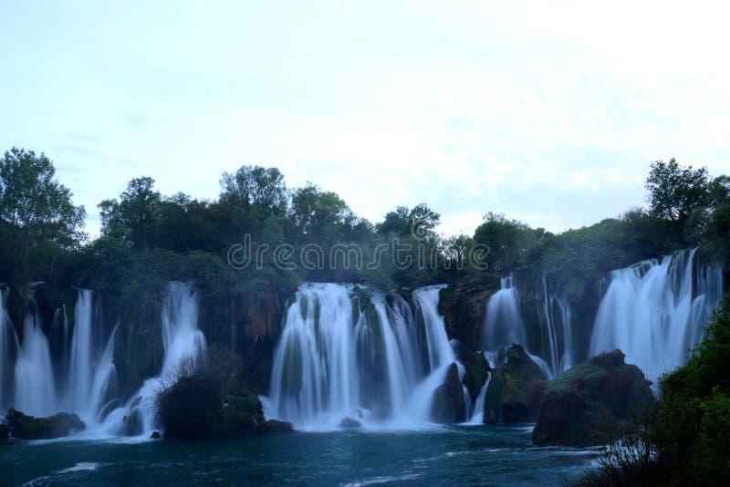 Водопад Kravica около Ljubuski, Босния и Герцеговина стоковые изображения rf