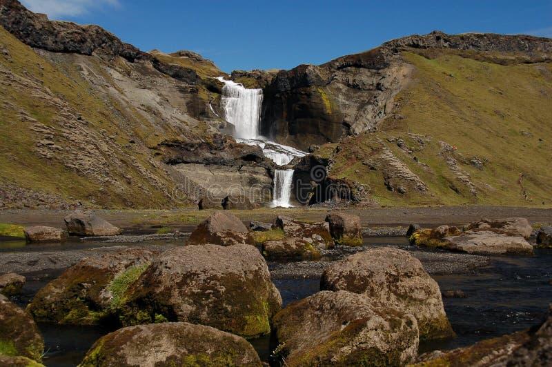 водопад ofaerufoss стоковое изображение