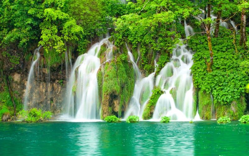 водопад plitvice стоковые изображения