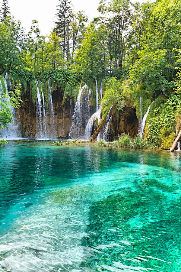 водопад plitvicke национального парка стоковая фотография