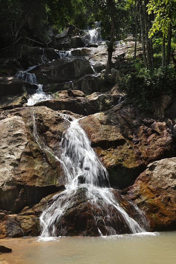 водопад samui koh острова стоковое изображение