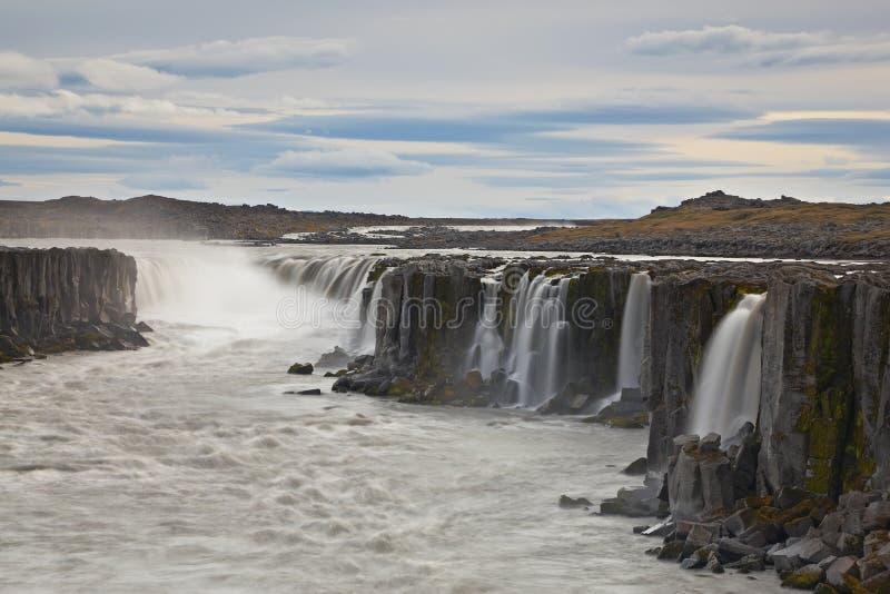 водопад selfoss Исландии стоковая фотография