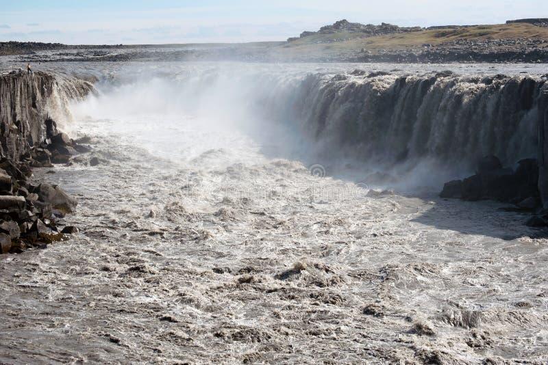 водопад selfoss Исландии стоковые изображения rf