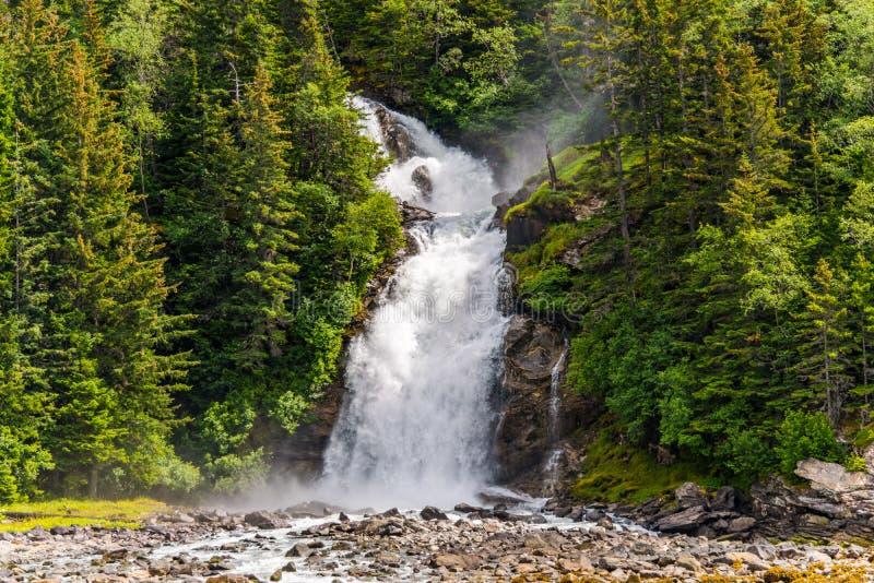 Водопад Skagway Аляска Chilkoot стоковое изображение rf