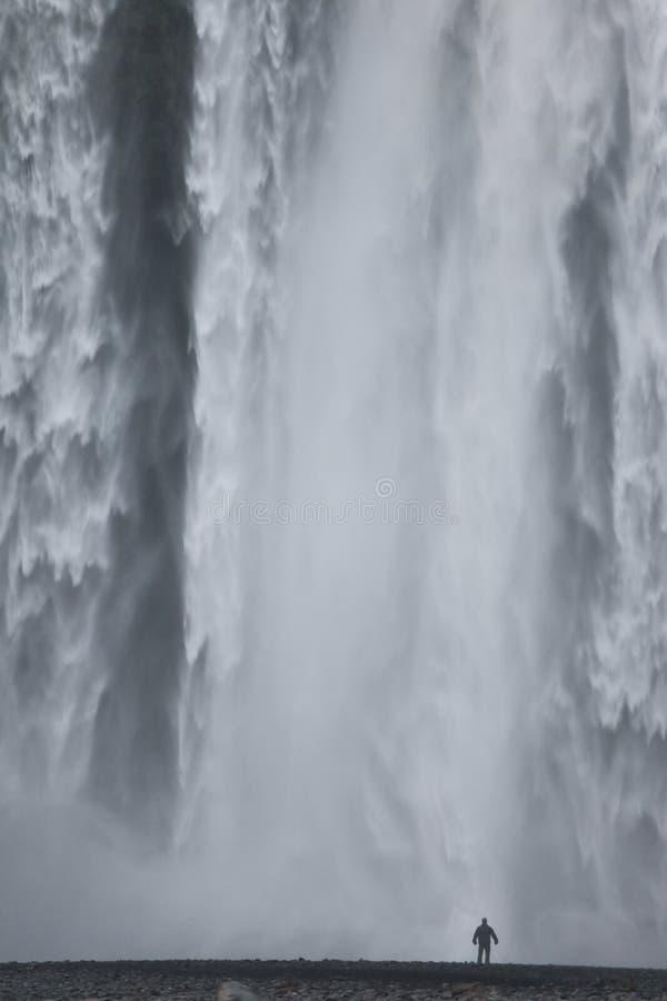 водопад skogafoss Исландии стоковые фотографии rf