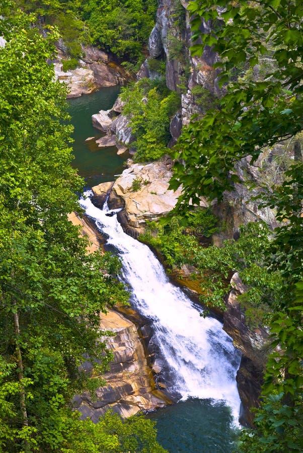 водопад tallulah реки gorge стоковое изображение