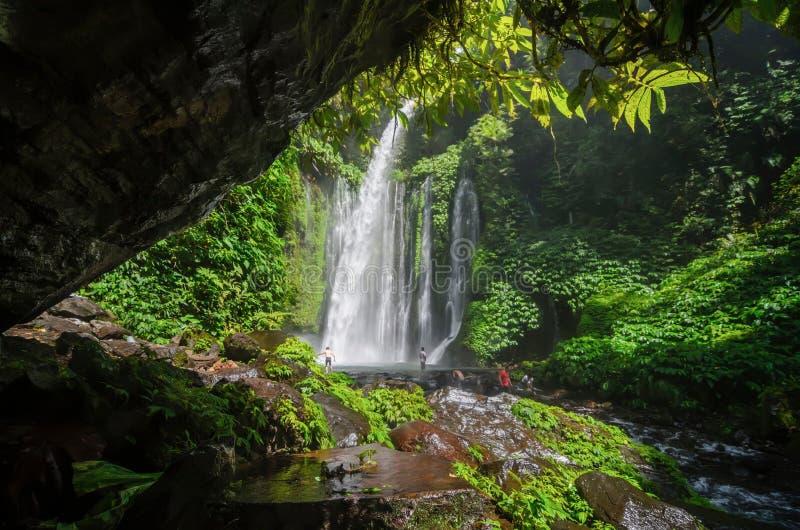 Водопад Tiu Kelep стоковые фото
