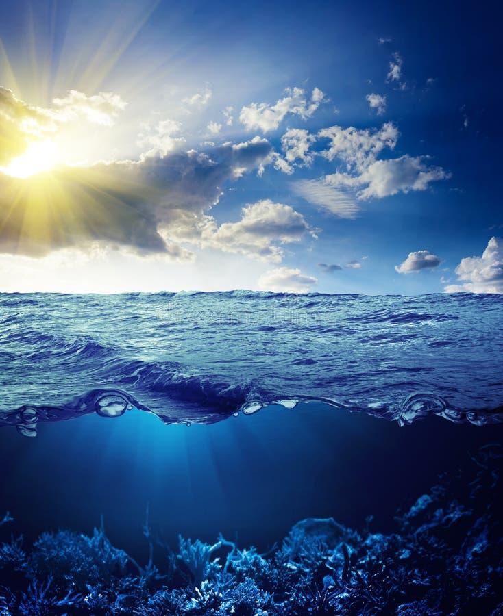 Водораздел и подводная предпосылка стоковое фото