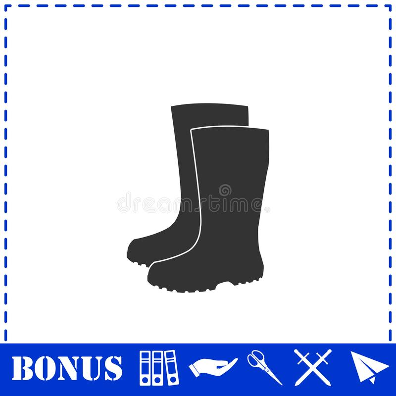 Водоустойчивый значок ботинок плоско бесплатная иллюстрация