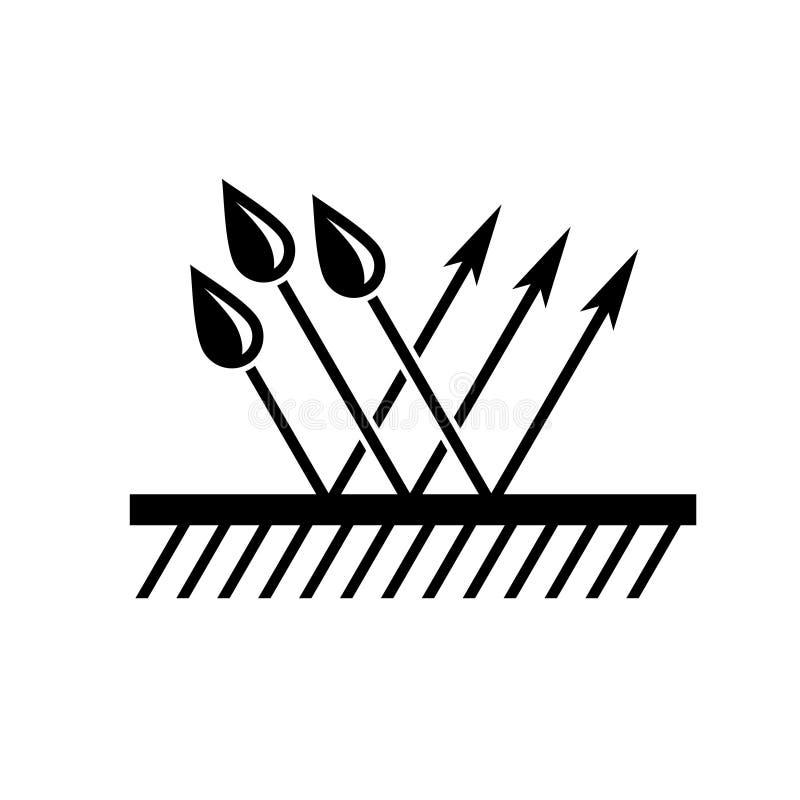 Водоустойчивый символ Поверхность с стрелками падений и прыжока воды бесплатная иллюстрация