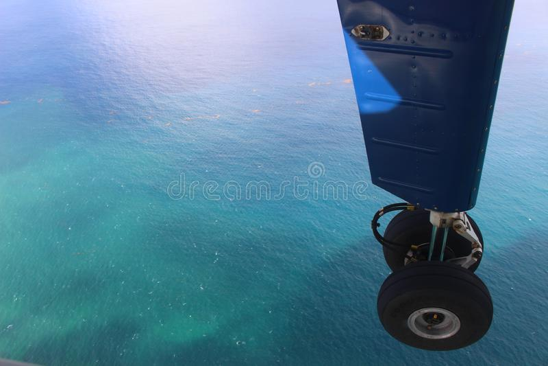 Воды с Culebra в испанских Виргинских островах от воздуха стоковое изображение