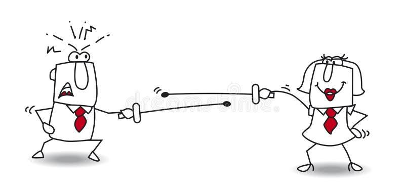 Воевать поединок иллюстрация вектора
