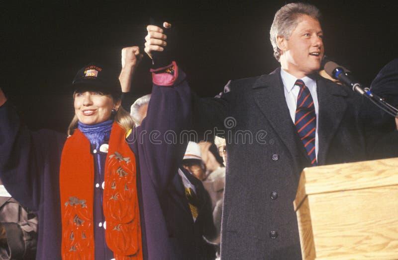 Воевод Bill Clinton и супруга Hillary стоковые изображения