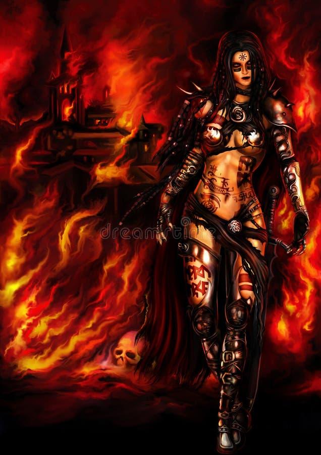Военачальник женщины варвара иллюстрация штока