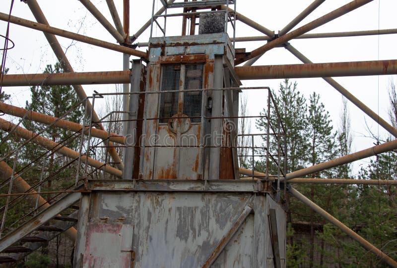 Военная антенна в зоне отчуждения Чернобыль стоковое фото
