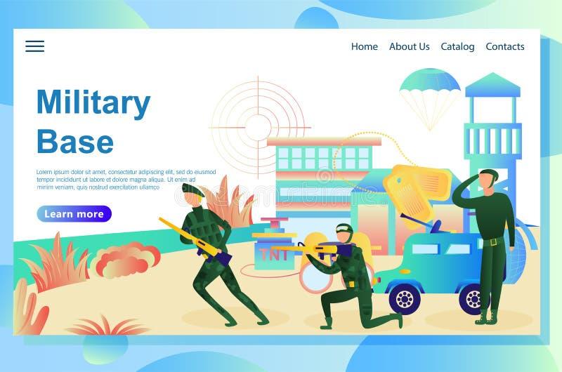 Военная база бесплатная иллюстрация