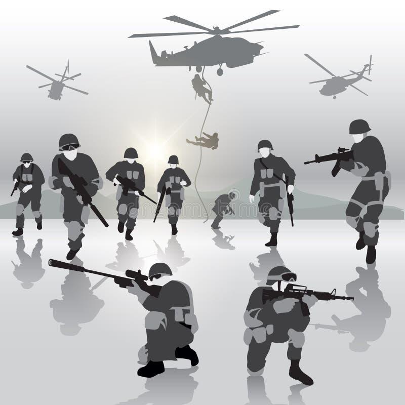военная операция иллюстрация вектора