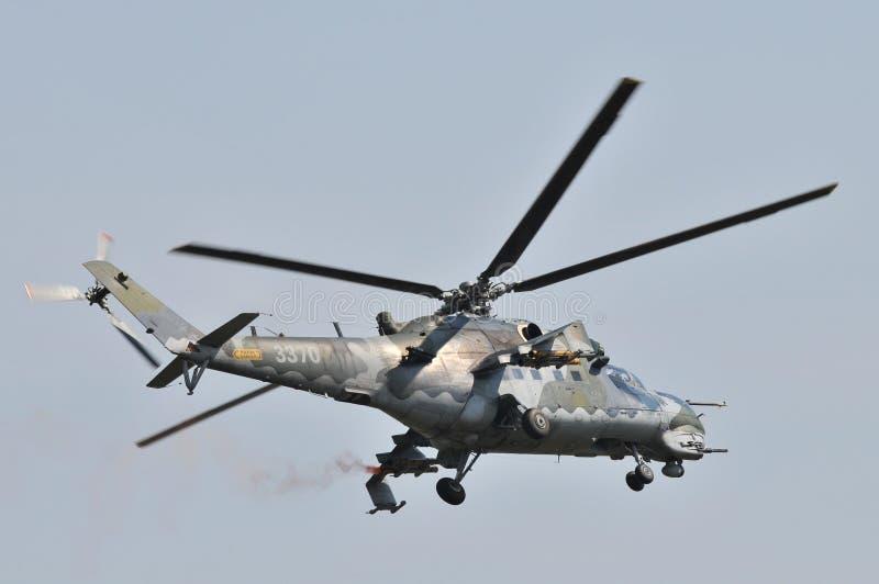Военновоздушная сила Mi-35 чеха стоковые изображения