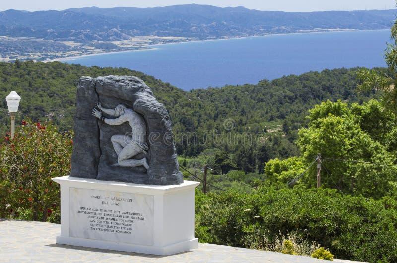 Военное мемориальное сопротивление Греции на острове Родос во время Второй мировой войны стоковые изображения rf