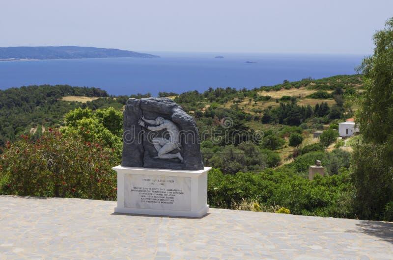 Военное мемориальное сопротивление Греции на острове Родос во время Второй мировой войны стоковые фото