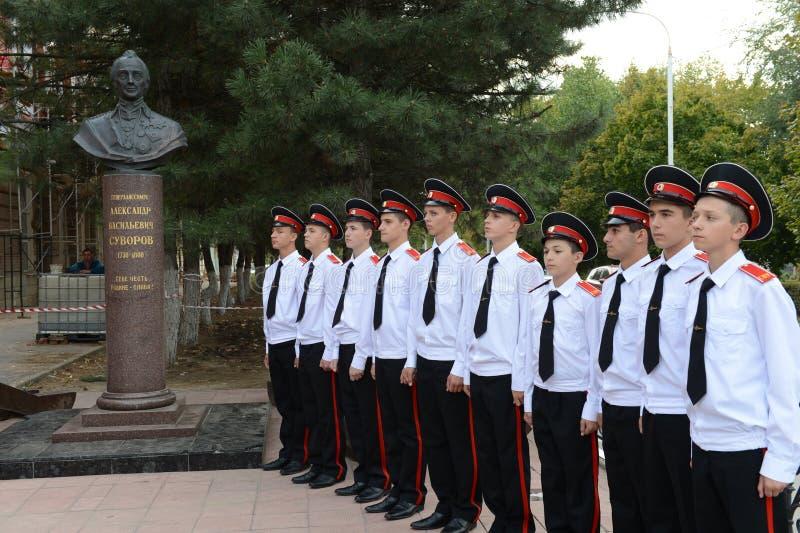 Военное училище Новочеркасска Suvorov кадетов стоковые изображения