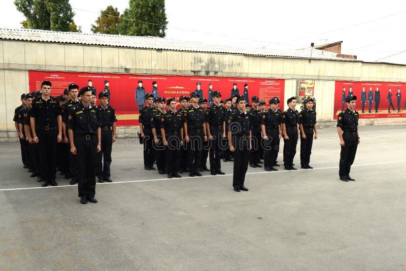 Военное училище Новочеркасска Suvorov кадетов стоковые изображения rf