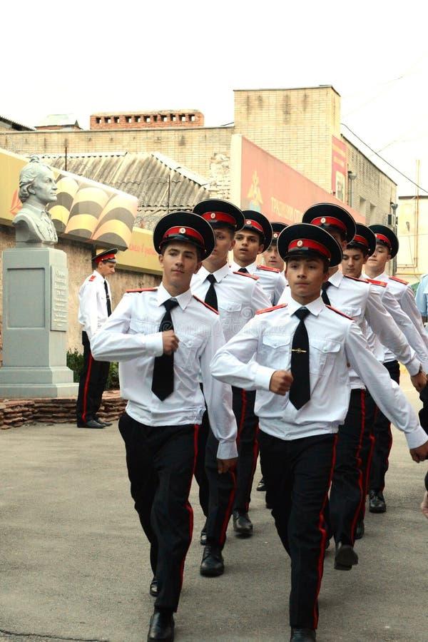 Военное училище Новочеркасска Suvorov кадетов стоковые фотографии rf