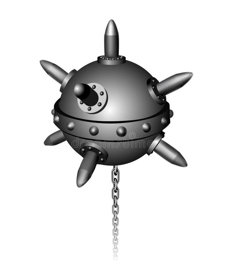 Военноморская иллюстрация вектора шахты иллюстрация вектора