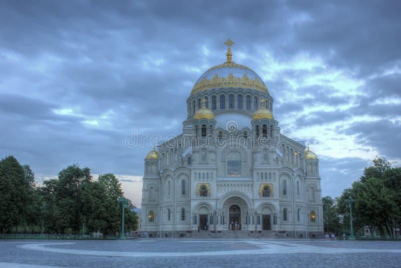 Военноморской собор в Kronstadt, Санкт-Петербурге, России стоковая фотография rf