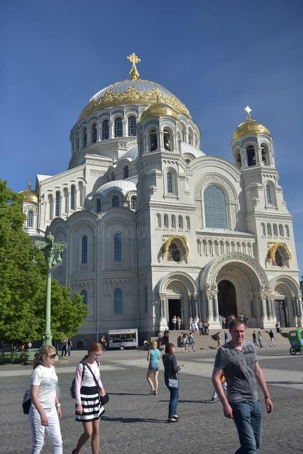 Военноморской собор St Nicholas Wonderworker - построенные las стоковая фотография