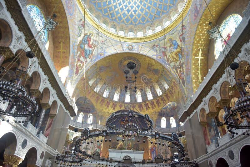 Военноморской собор St Nicholas Wonderworker - построенные las стоковая фотография rf