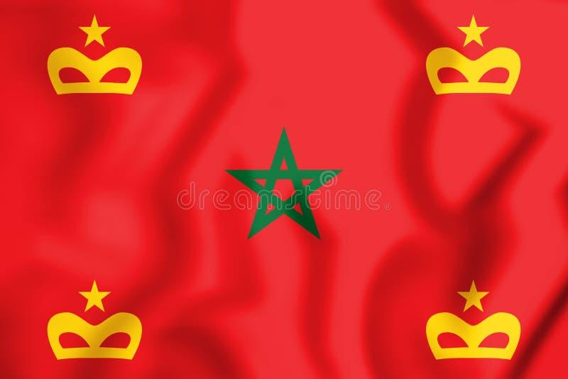 военноморской Ensign 3D Марокко иллюстрация штока