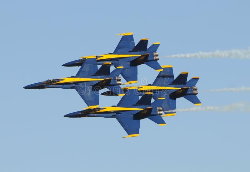 военно-морской флот ангелов голубой мы стоковое изображение