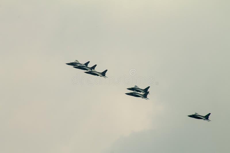 Военные самолеты 3 воздушного судна реактивного истребителя MiG-29 стоковые изображения rf