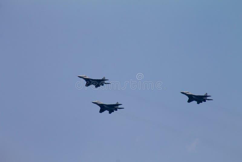 Военные самолеты 3 воздушного судна реактивного истребителя MiG-29 стоковое изображение rf