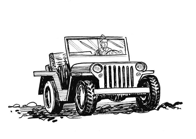 Военный автомобиль бесплатная иллюстрация